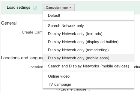 AdMob in AdWords