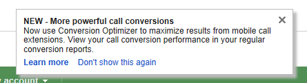 Google AdWords Conversion Optimizer Now Supports Mobile Call Extensions