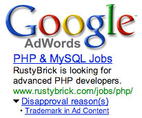 Google AdWords Trademark