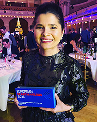 Aleyda Solis With Her European Search Personality Award