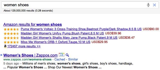Amazon Google Results