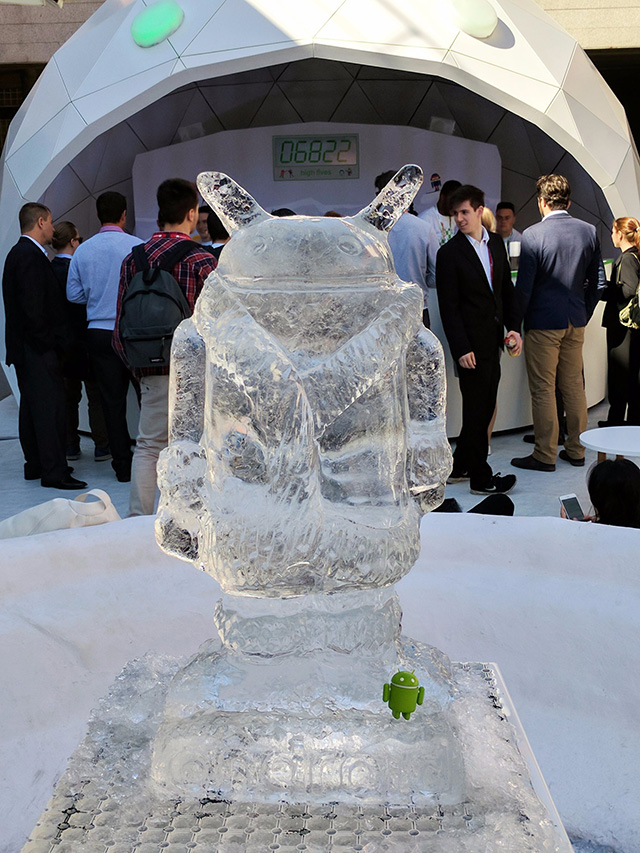 Android Ice Sculpture