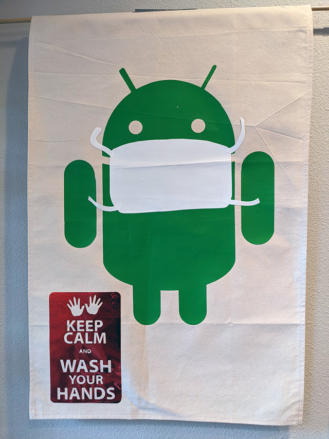 Homemade Google Android Sign: Keep Calm & Wash Hands