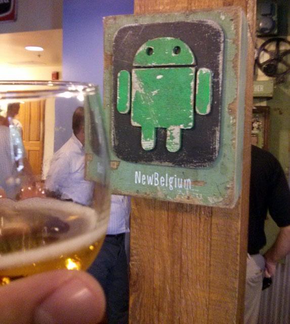 New Belgium Brewing Android Sign