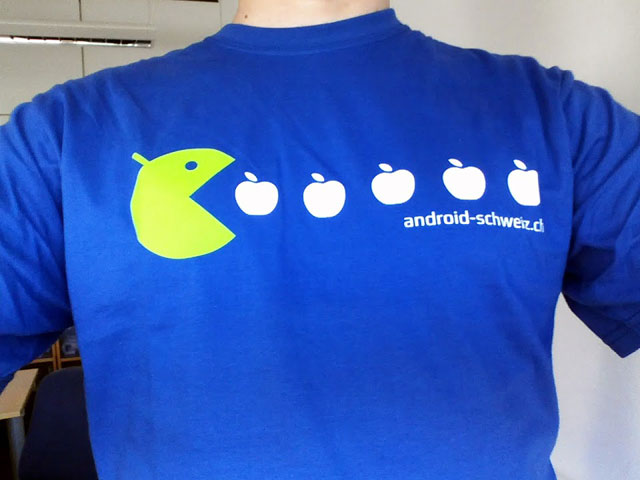 Pac-Man Android Eating Apples