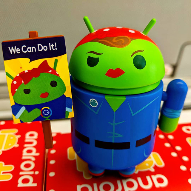 Rosie The Riveter Android Figurine