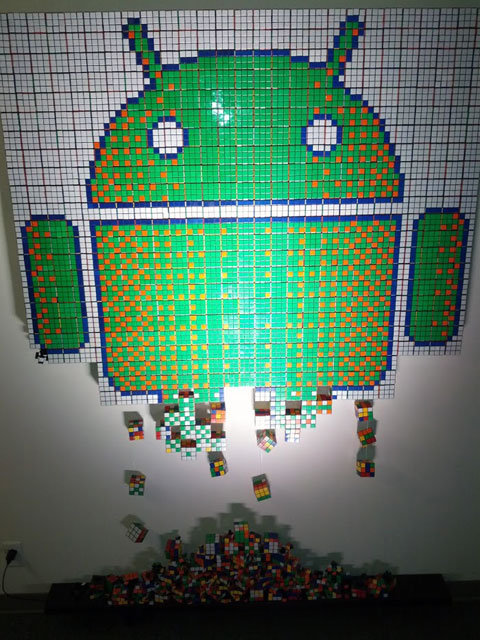 Android Rubik's Cube Art