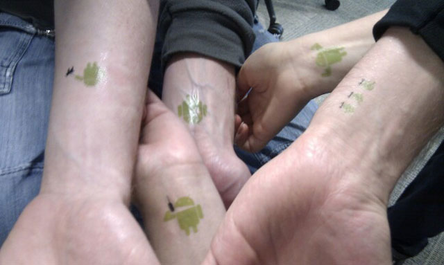 Green Android Tattoos