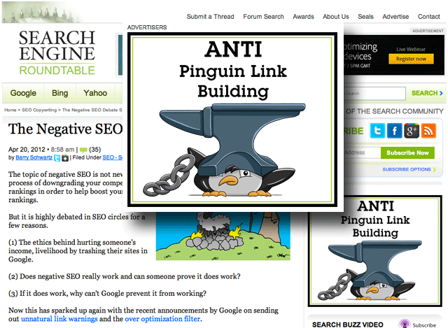 Anti Penguin Link Building Ad