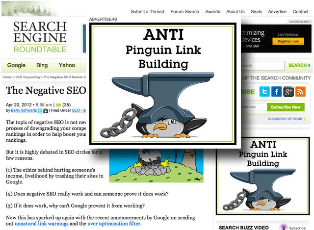 Anti Penguin Link Building Ad