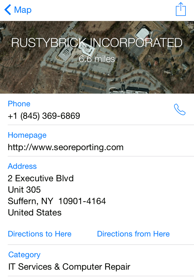 Apple Maps RustyBrick