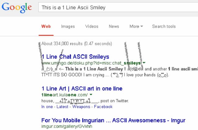 Google Infinite Ascii