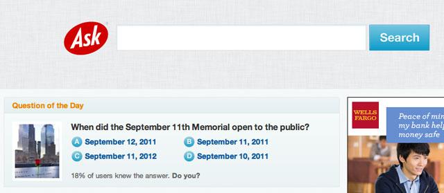 Ask.com 9/11/2012
