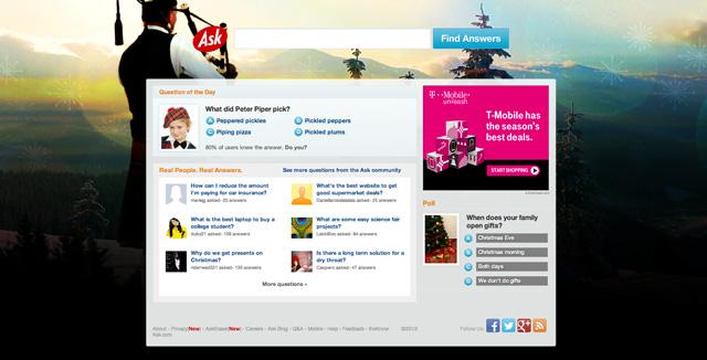 Ask.com Christmas