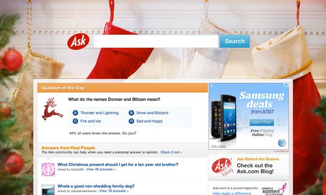 Ask.com Christmas 2011