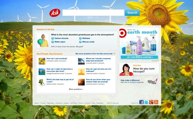 Ask.com Earth Day Logo