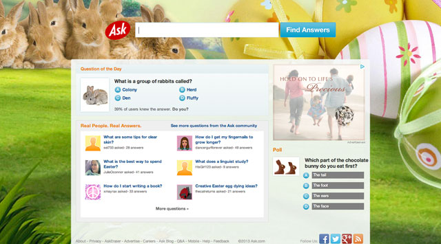 Ask.com Easter 2012