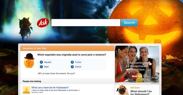 Ask.com Halloween 2011