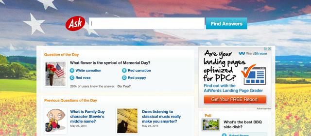 Ask.com Memorial Day 2014