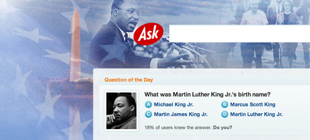 Ask.com Martin Luther King, Jr. Logo