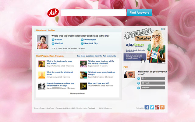 Ask Mother's Day Logo 2013
