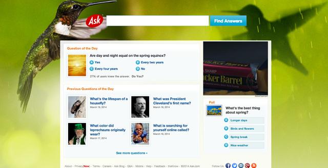 Ask.com Spring Equinox Logo