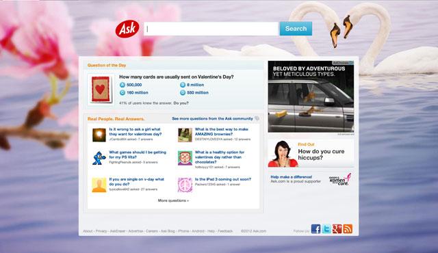 Ask.com Valentines Logo