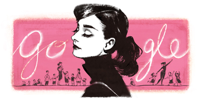 Google Logo Remembers Audrey Hepburn