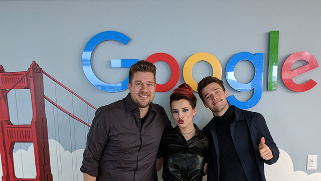 Bella Thorne & Patrick Schwarzenegger At Google