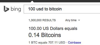 Bing converts Bitcoin