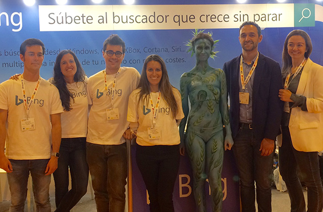 Bing Booth Does Body Painting