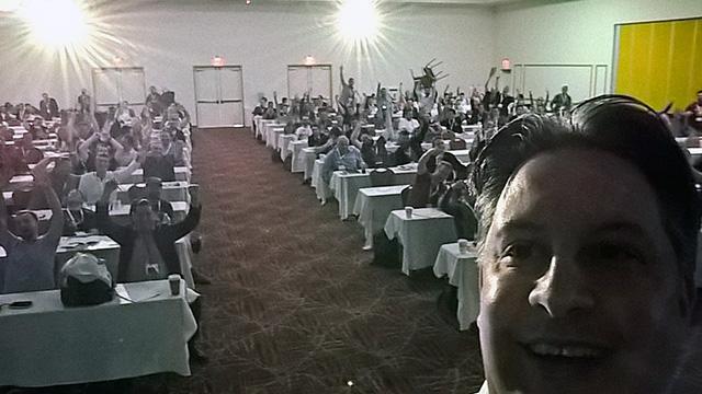 Duane Forrester Conference Selfie