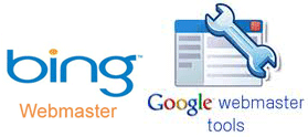 Google or Bing Webmaster Tools