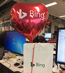 Bing Valentine's Day Heart Balloon Gift