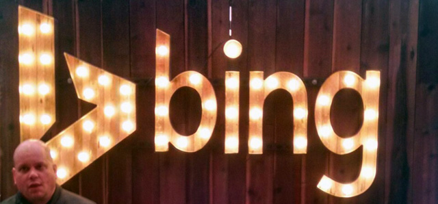 Bing Light Bulb Sign
