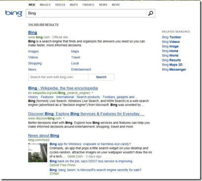 New Bing Design