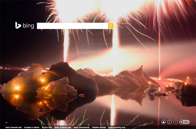 Bing New Years Eve 2014 Logo