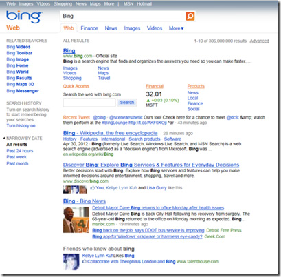 Old Bing Design