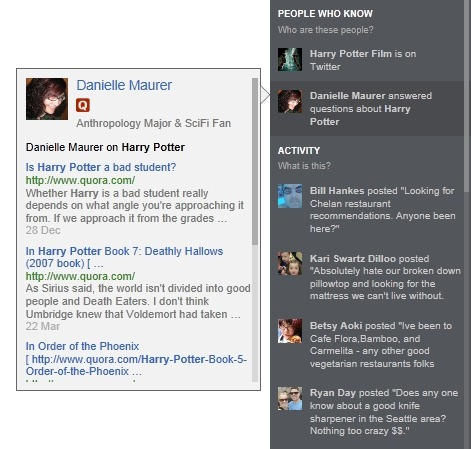 Quora Added To Bing's Social Bar