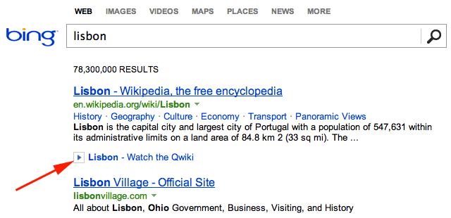 Bing Qwikis Click