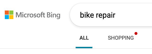 Bing Search Mysterious Red Dot