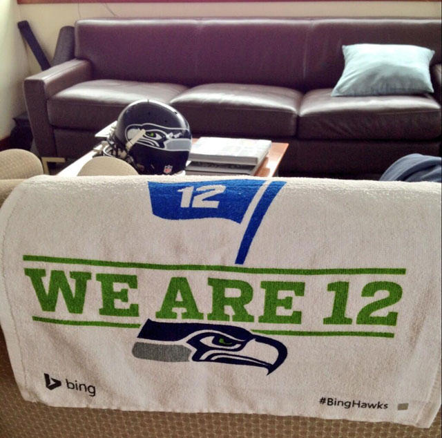 Seattle Seahawks Bing Towels