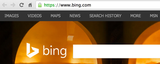 Bing Activates SSL Search As Opt In