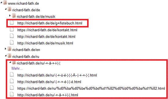 Bing & Unicode URLs