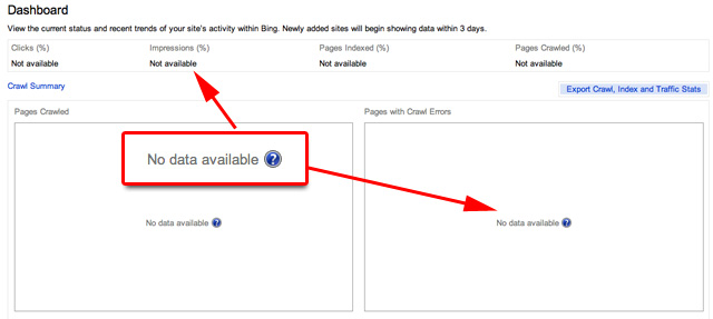 Bing Webmaster Tools Bug
