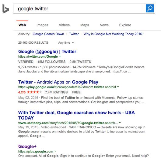 Bing Testing Twitter (Tweet) Carousel In Search Results