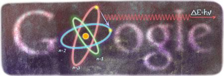Niels Bohr Google Logo