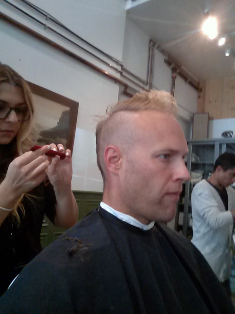 Google's Brett Crosby With A Mohawk