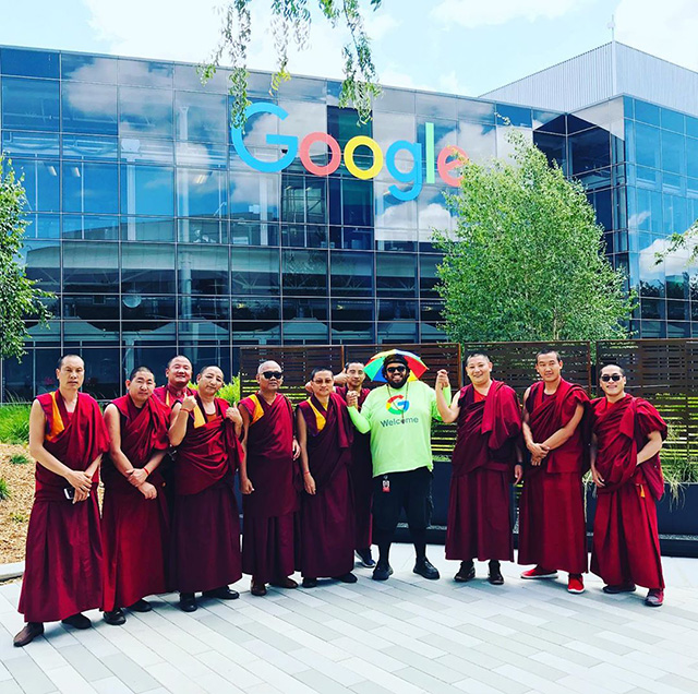 Buddhist Monks Visit Google