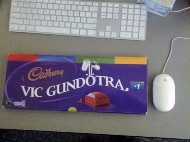 Vic Gundotra Google+ Cadbury Bar